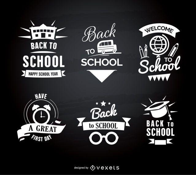 Back to school emblems