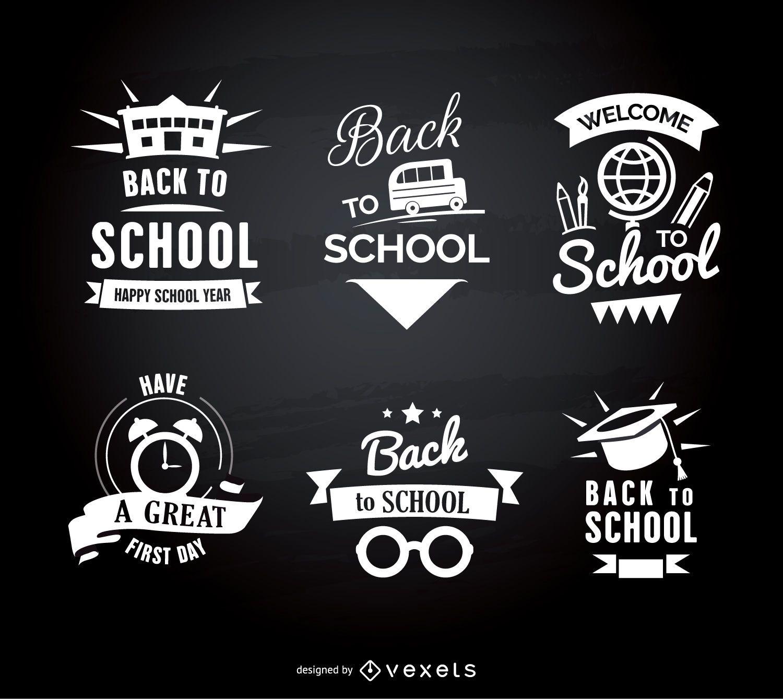 Embleme für den Schulanfang