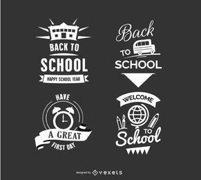 Zurück in die Schule Abzeichen