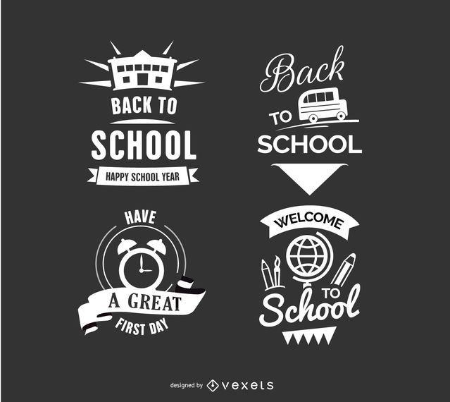 De volta à escola Emblemas