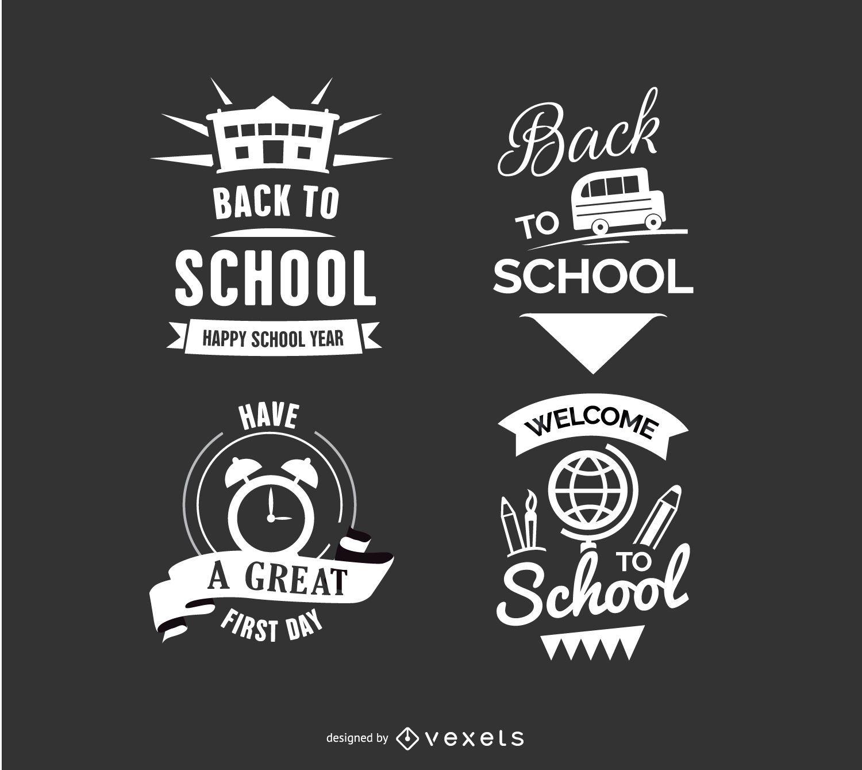 Emblemas de volta às aulas