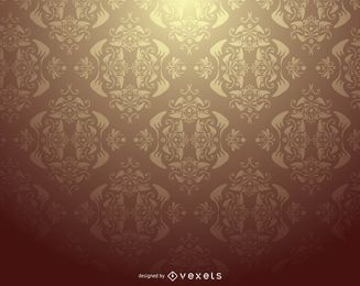 Damast-verziertes Muster