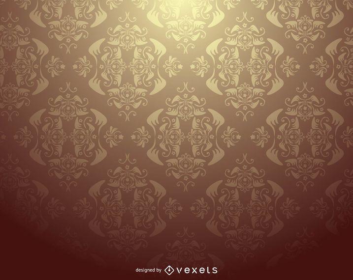 Damasco patrón adornado