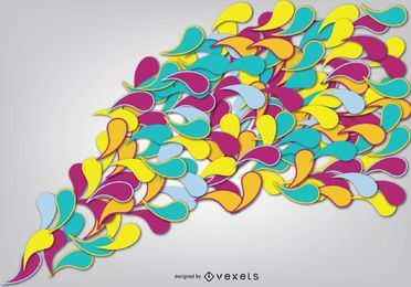 Flowing Multicolored Swirls Background