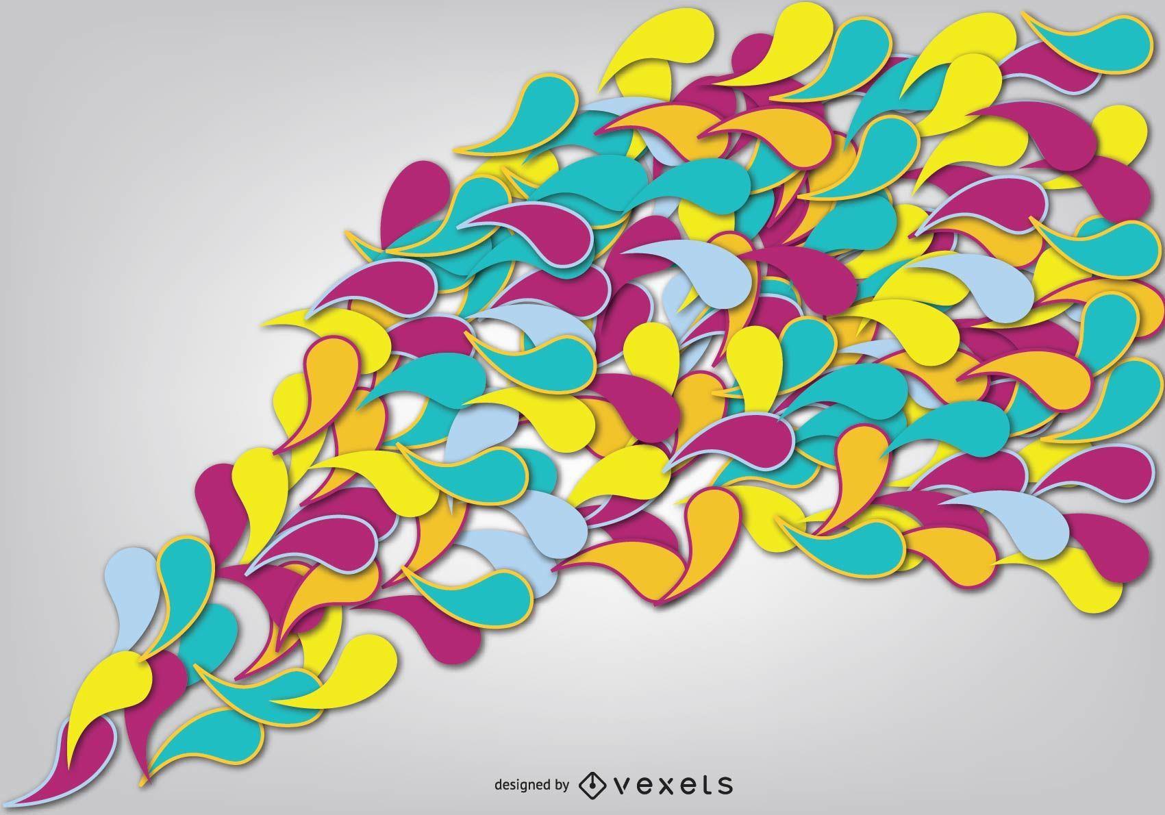 Flowing Multicolored Swirls Background
