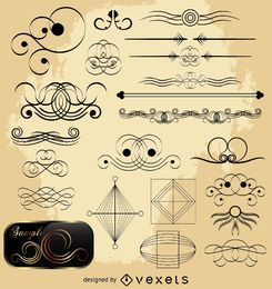 Calligraphic Ornate Decoration Set