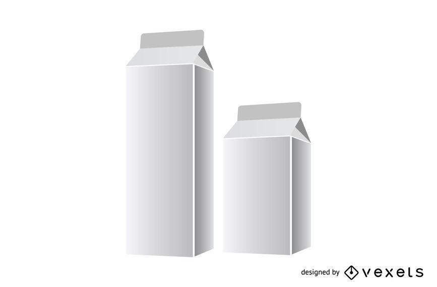 Modelos de embalagem de leite brilhante