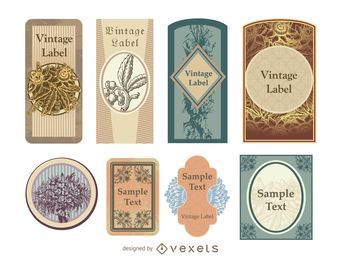 Decorative Vintage Label Pack