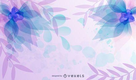 Diseño de fondo de acuarela de flores de colores