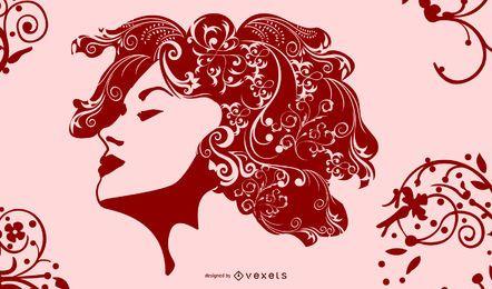 Redemoinhos de estilo de cabelo de moda de meninas