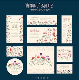 Invitación de la boda plantilla de Flores