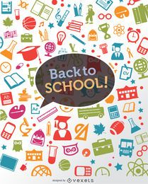 Back to school icons background