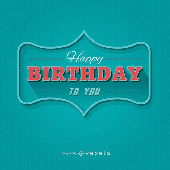 Alles Gute zum Geburtstag moderne Postkarte