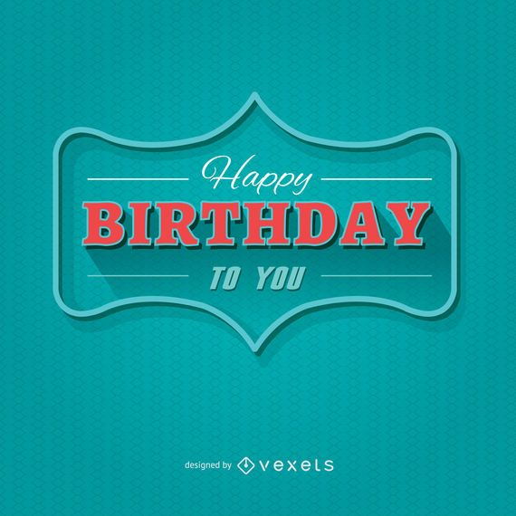 Cartão moderno do feliz aniversario
