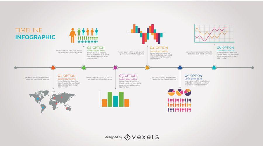 Cronología Infografía - Descargar vector