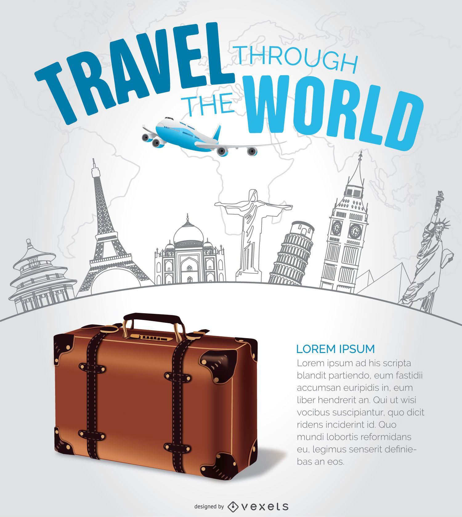Diseño de viajes con hitos dibujados a mano.