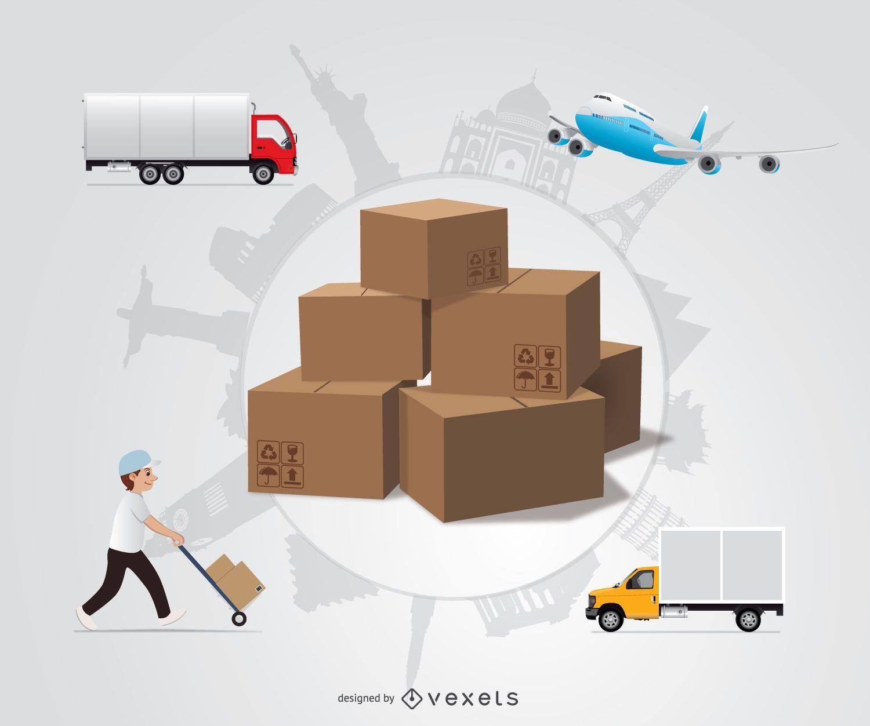 International shipping design