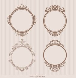 Frame ornamental badges