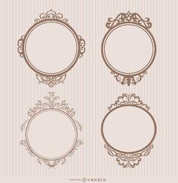 Insignias de marco ornamentales.