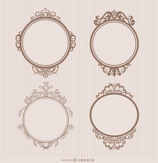 Emblemas ornamentais de quadros