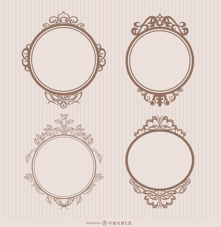 Frame ornamental badges