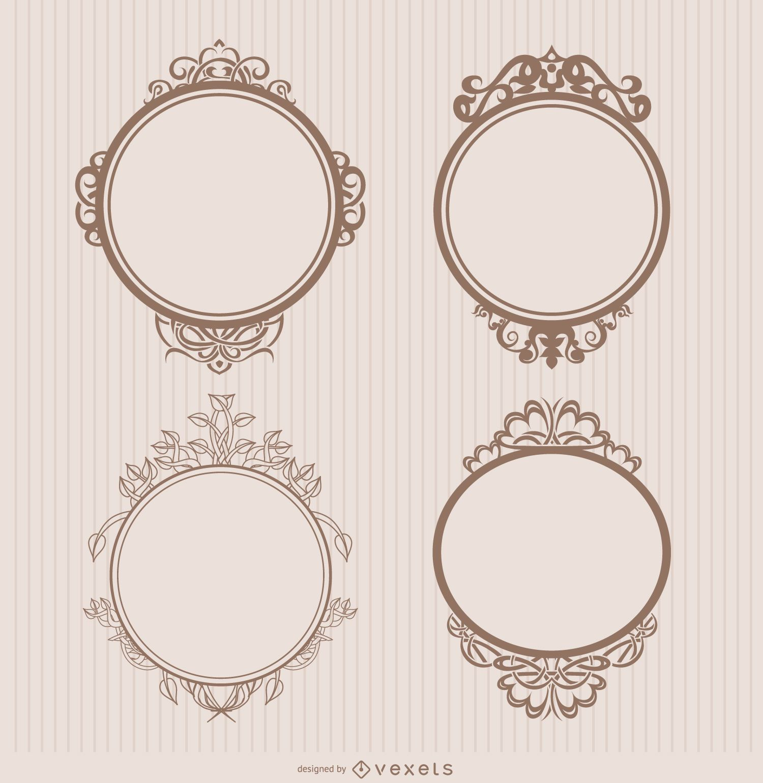 Insignias ornamentales marco