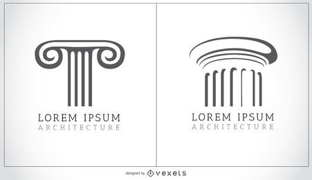 Doric and Ionic columns logo