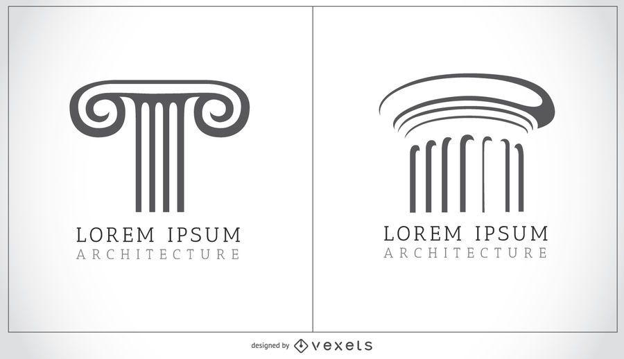 Doric and Ionic columns logo