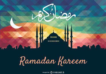 Tarjeta de felicitación del Ramadán Kareem