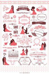 60 elementos de casamento frescos para seu convite
