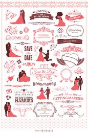 60 elementos de casamento legal para o seu convite