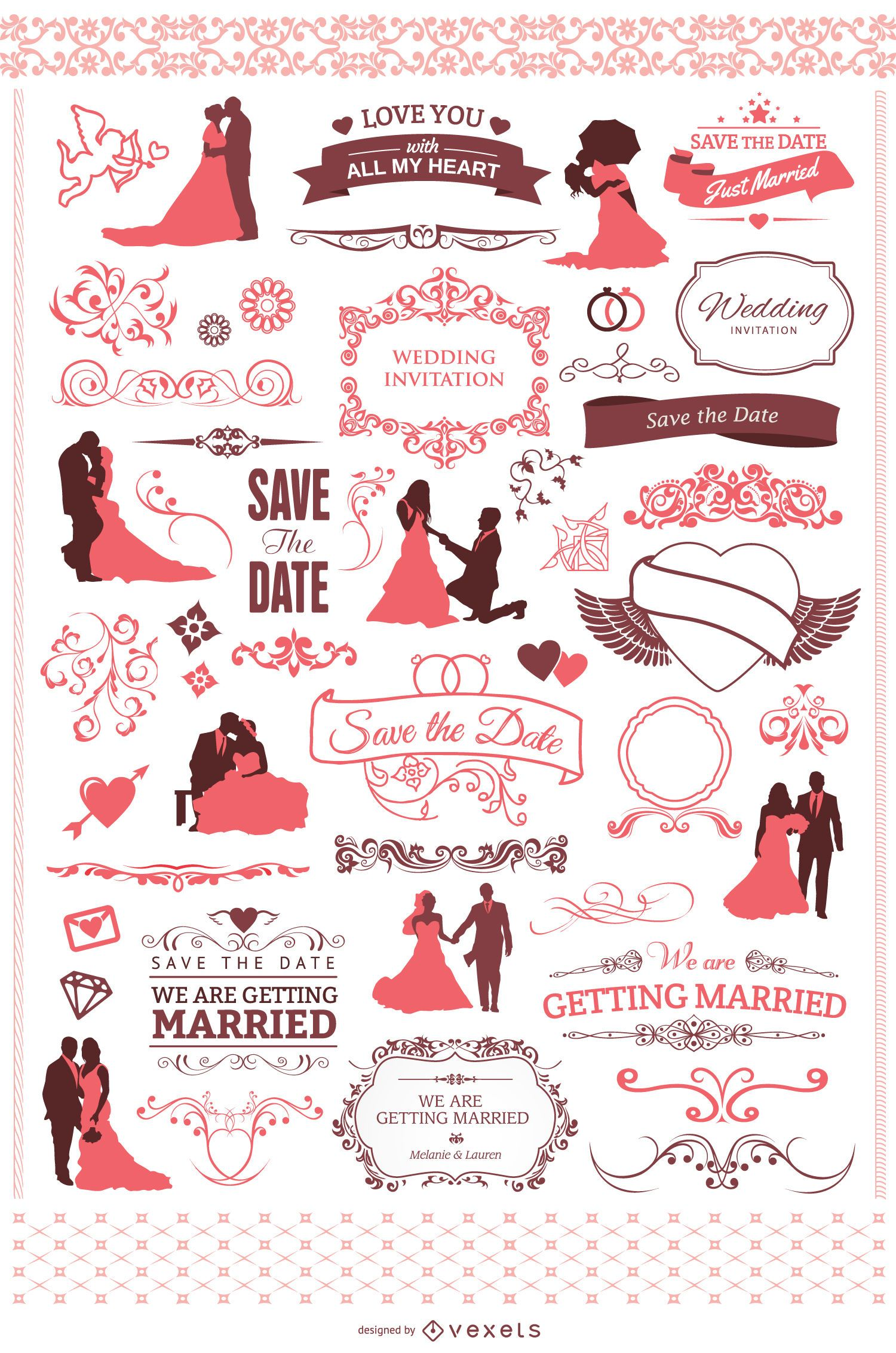60 elementos de boda geniales para tu invitaci?n