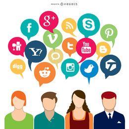 Social Media-Konzept