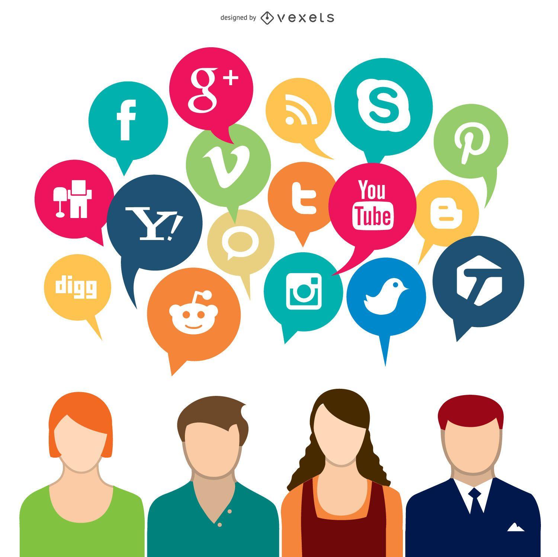 Conceito de mídia social