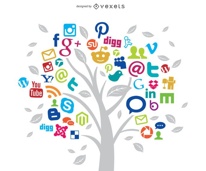 Social Networks Tree Concept