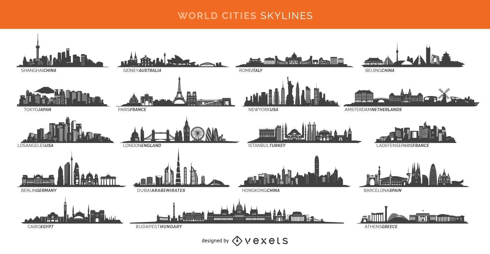 19 cidades famosas incluindo Paris Londres Sidney e mais