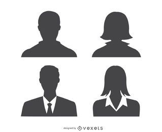 Avatars profile silhouette