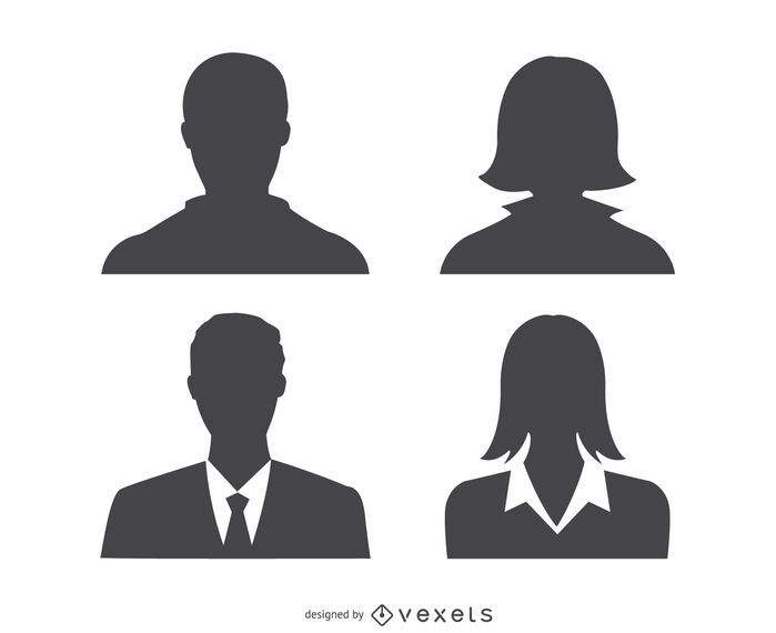 Avatars profile silhouette