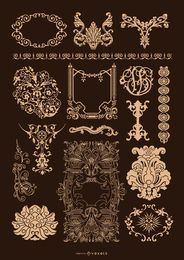 Baroque Ornamental set