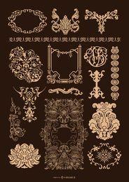 Conjunto ornamental barroco