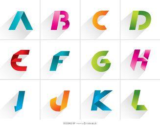 Letras de logotipo de A a L