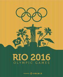 Landschaft der Olympischen Spiele in Rio 2016