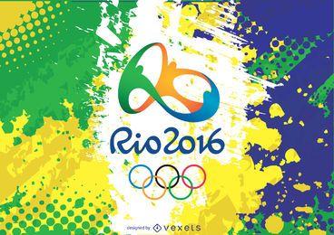 Logotipo e plano de fundo do Rio 2016