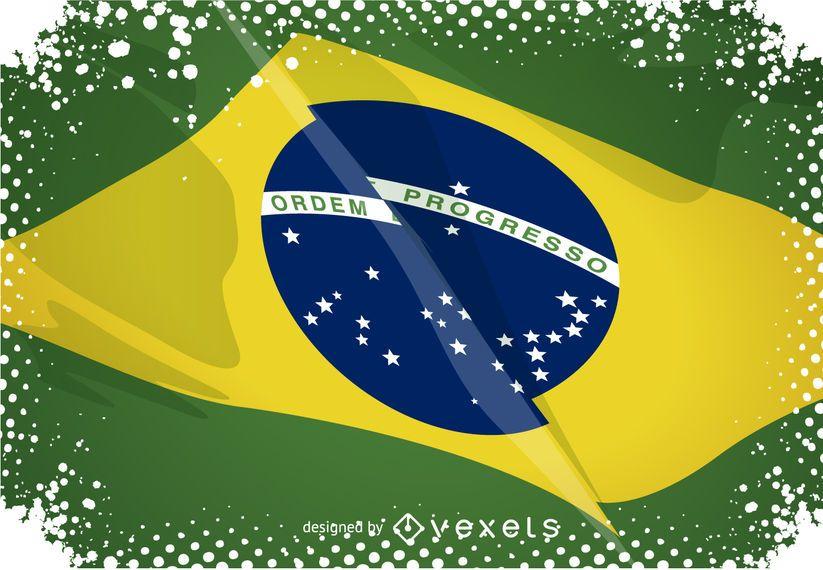 Rio 2016 sobre la bandera de Brasil