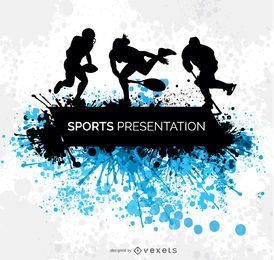 Diseño del grunge de los deportes