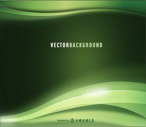 Fondo ondulado abstracto verde