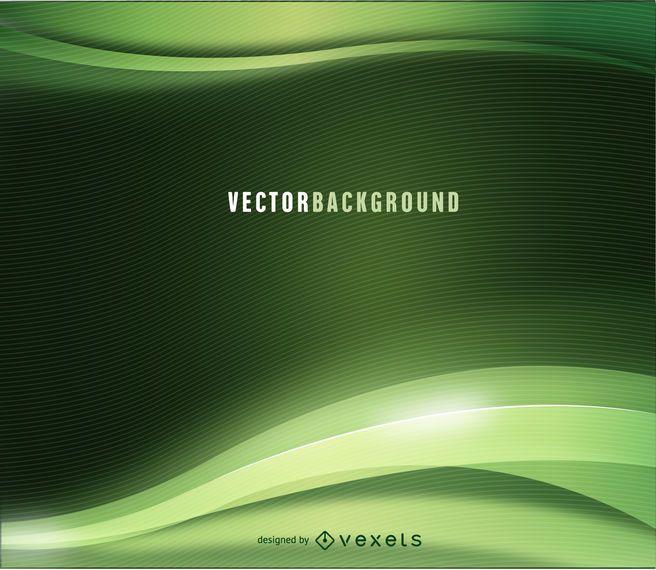 Fundo ondulado abstrato verde