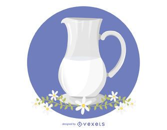 Milk and Chamomile Vector