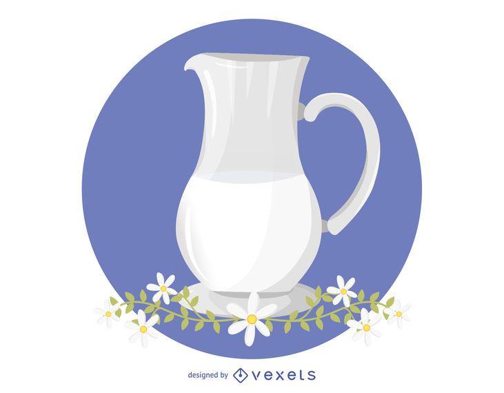 Milch und Kamille Vektor