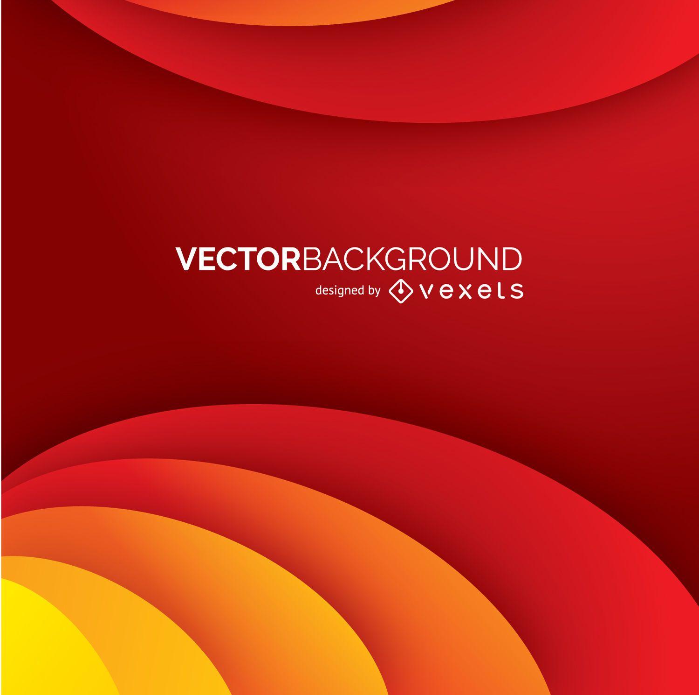 Fondo de curvas abstractas rojo